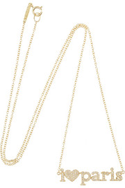 I Love Paris 18-karat gold diamond necklace