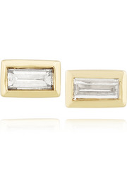 Jennifer Meyer 18-karat gold diamond rectangle earrings