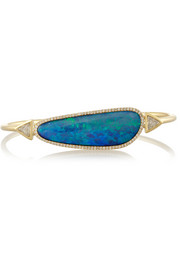 Jennifer Meyer 18-karat gold, opal and diamond cuff