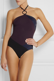 Eres Puzzle Miracle paneled halterneck swimsuit