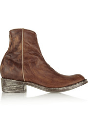 Mexicana Star distressed leather ankle boots