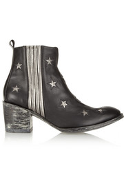 Mexicana Chiqui Star studded leather ankle boots