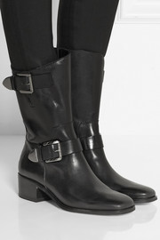 MICHAEL Michael Kors Robin glossed-leather ankle boots