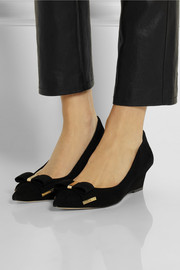 MICHAEL Michael Kors Kiera suede wedge pumps
