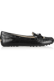 MICHAEL Michael Kors Daisy snake-effect leather loafers