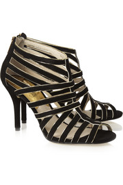 MICHAEL Michael Kors Tatiana suede and metallic leather sandals