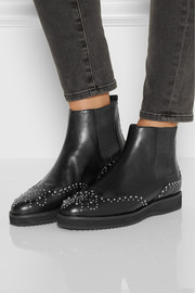 MICHAEL Michael Kors Sofie studded leather Chelsea boots