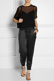 Paige Jayden washed-silk track pants