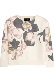 By Malene Birger Synna printed satin-jersey sweatshirt