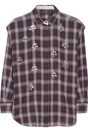 By Malene Birger Alfredah embellished plaid cotton shirt