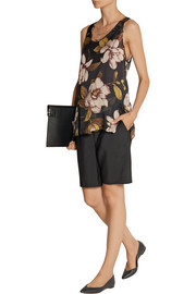 By Malene Birger Amandan floral-print silk crepe de chine top