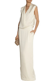 By Malene Birger Columba wrap-effect stretch-silk maxi dress