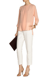 By Malene Birger Agathe pleated crepe top