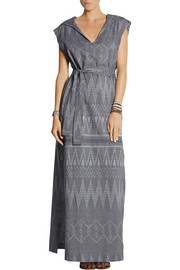 Baja East Hooded Ikat cotton-jacquard maxi dress