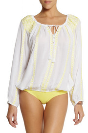 Melissa Odabash Patty embroidered voile top