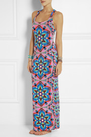 Mara Hoffman Printed stretch-jersey maxi dress