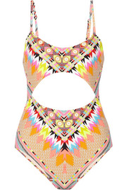 Mara Hoffman Cutout printed swimsuit