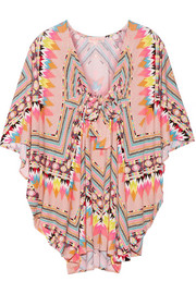 Printed stretch-modal coverup