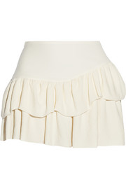 Maje Fluxi ruffled crepe mini skirt
