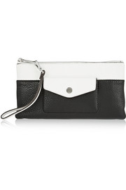 MICHAEL Michael Kors Mirat two-tone textured-leather clutch