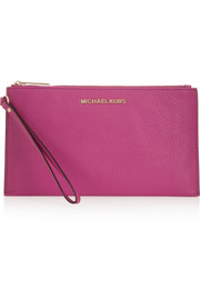 MICHAEL Michael Kors Bedford textured-leather pouch