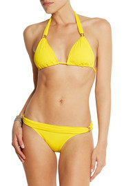 Vix Embellished fold-over bikini briefs