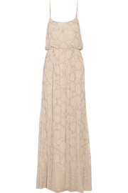 Needle & Thread Constellation embellished chiffon maxi dress