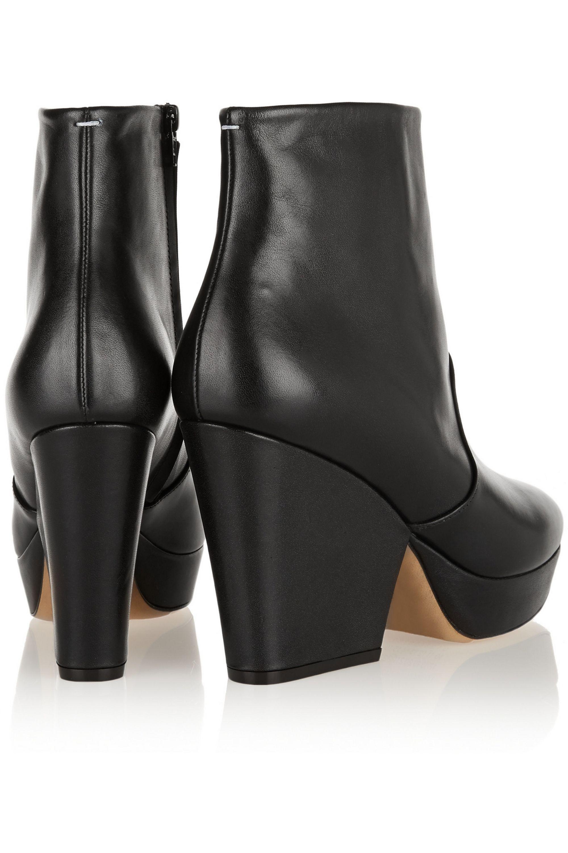 Maison Margiela Leather platform ankle boots