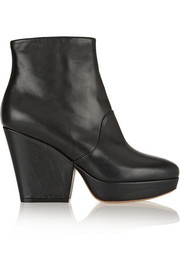 Maison Martin Margiela Leather platform ankle boots