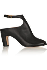 Maison Martin Margiela Peep-toe leather ankle boots