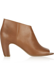 Maison Martin Margiela Leather peep-toe ankle boots