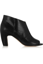 Maison Martin Margiela Snake-effect leather ankle boots
