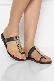 Ancient Greek Sandals Elia leaf-detailed leather sandals
