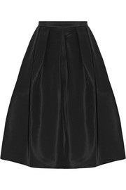 Tibi Silk-faille skirt