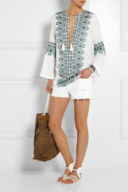 Talitha Noor embroidered silk tunic