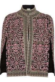 Talitha Ghara embroidered silk cape