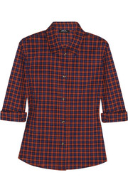 A.P.C. Atelier de Production et de Création Mike plaid cotton shirt