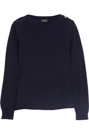 A.P.C. Atelier de Production et de Création Knitted cotton sweater