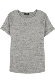 A.P.C. Atelier de Production et de Création Baseball cotton-fleece top