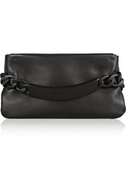 Maison Martin Margiela Chain-embellished leather clutch