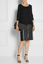 Maison Martin Margiela Leather and wool-blend felt clutch