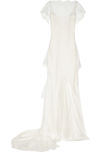Sale alerts for Tiered lace gown Marchesa - Covvet