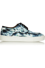 Inez printed canvas sneakers