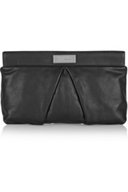 Marchive pleated leather clutch