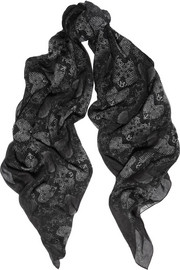 Marc by Marc Jacobs Printed cotton and silk-blend scarf