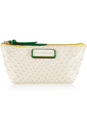 Marc by Marc Jacobs Jellysnake Colorblocked embossed PVC cosmetics case