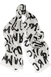 Marc by Marc Jacobs Printed cotton scarf
