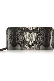 Marc by Marc Jacobs Snake Heart PVC continental wallet