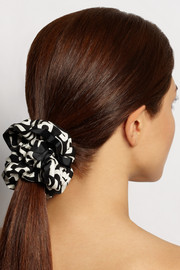 Marc by Marc Jacobs Printed cotton-twill scrunchie