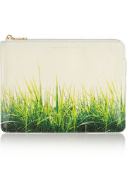 Marc by Marc Jacobs Grass Is Always Greener printed faux patent-leather iPad case